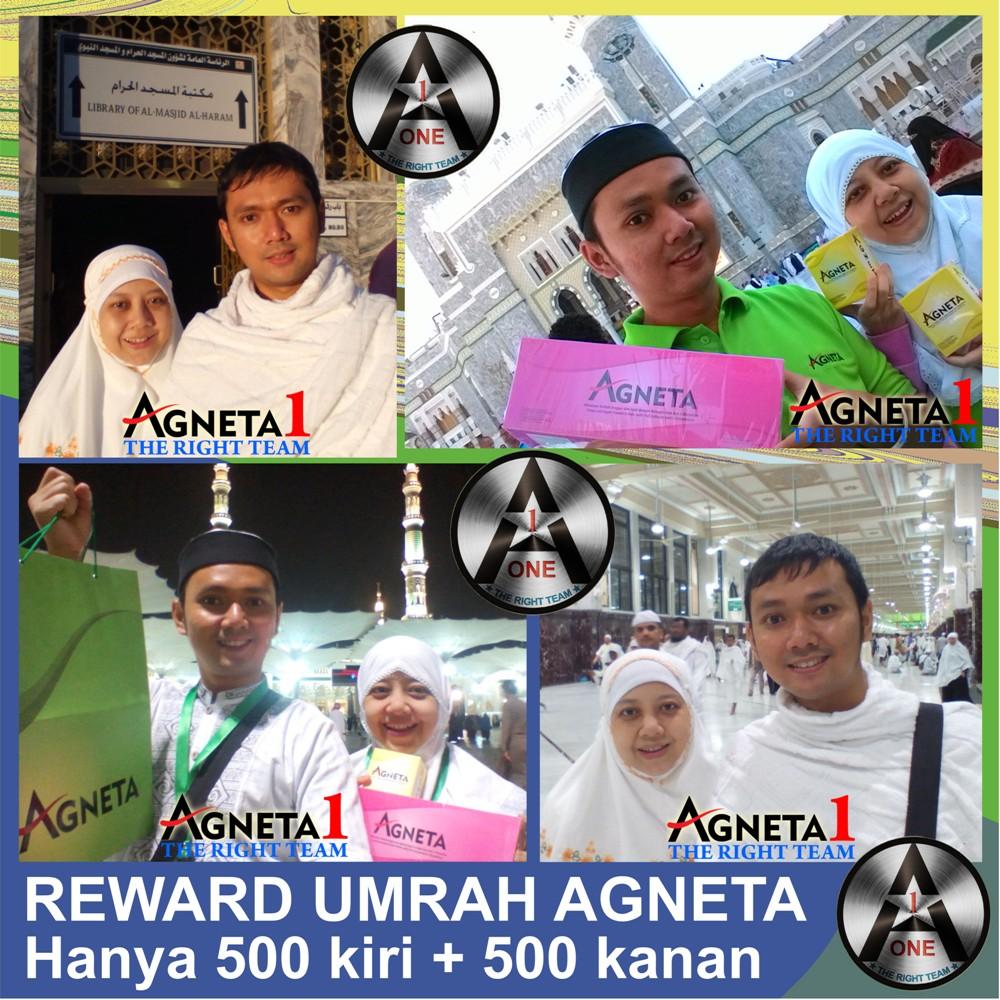 Maulia dan Istri, Peraih Reward Umrah dari Bisnis Agneta