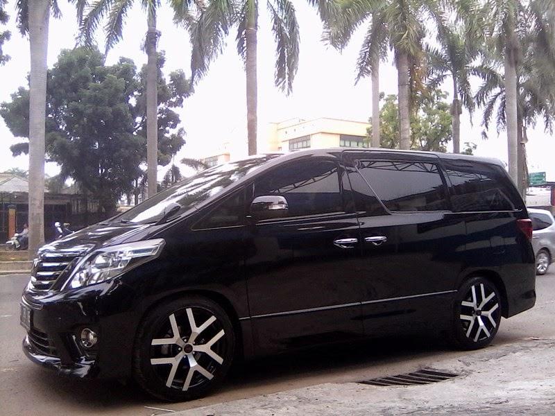modifikasi mobil toyota alphard hitam