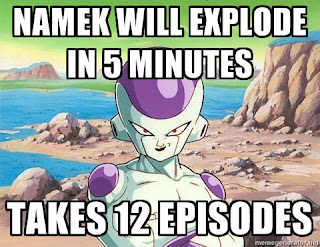 namek will explode in 5 minutes takes 12 episodes