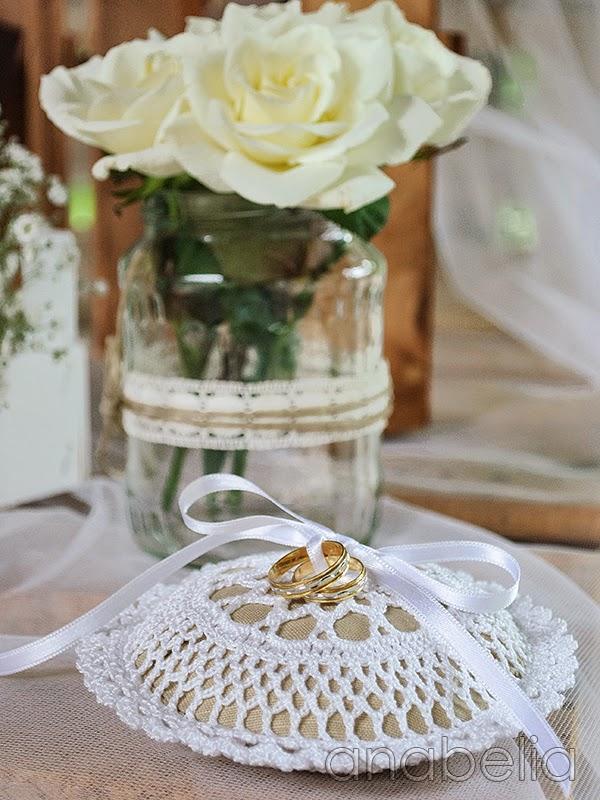 Wedding rings cushion by Anabelia
