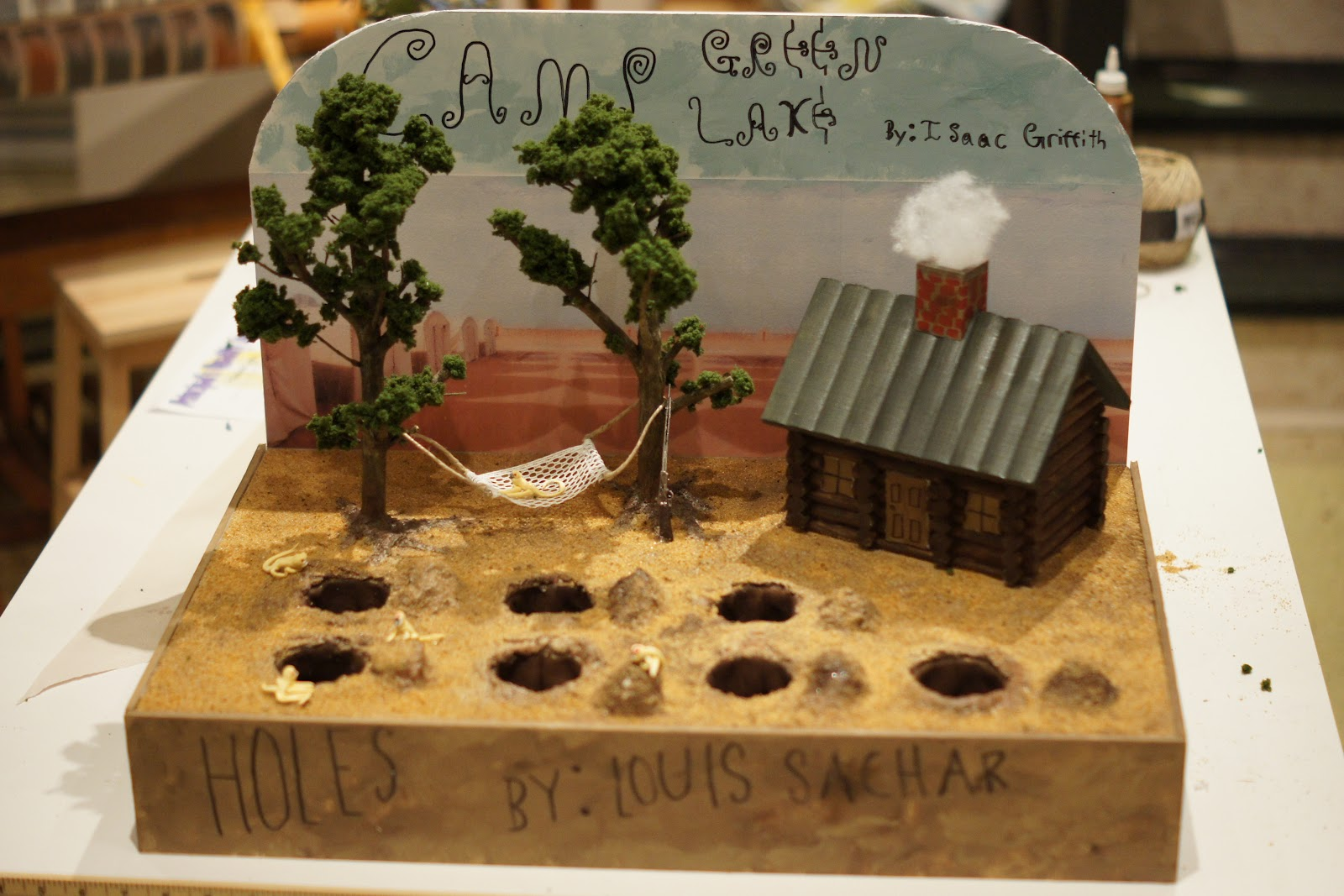Holes Book Cover Ideas : Holes diorama cathgrace