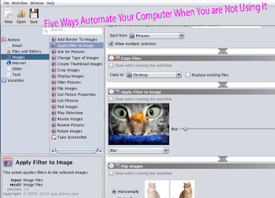 Computer Tips: Five Ways Automate Your Computer When You are Not Using It