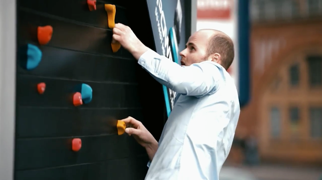 Powerade, workout billboard, valla publicitaria para ejercitarse