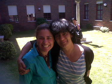 Isabel Salama (Presidenta de la Asociación Española de  AEneagrama) y yo en Vigo.