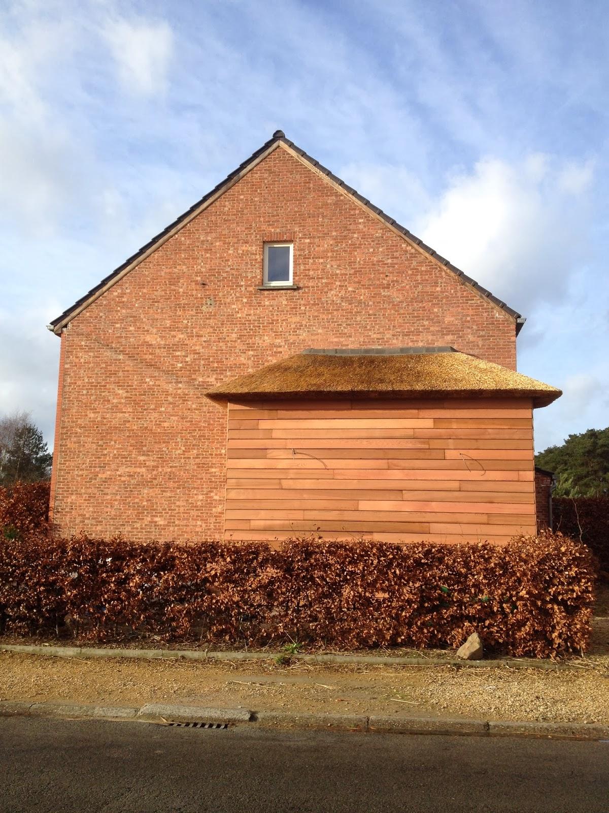 Thuis is waar erker - Latwerk houten ...