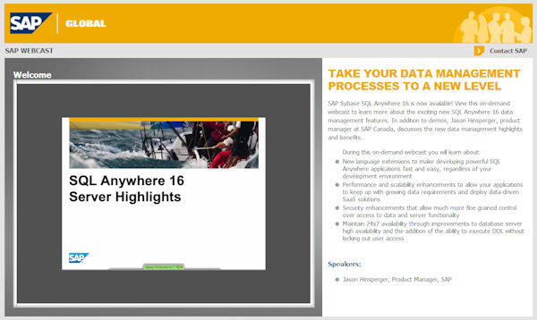 SAP webcast SQL Anywhere 16