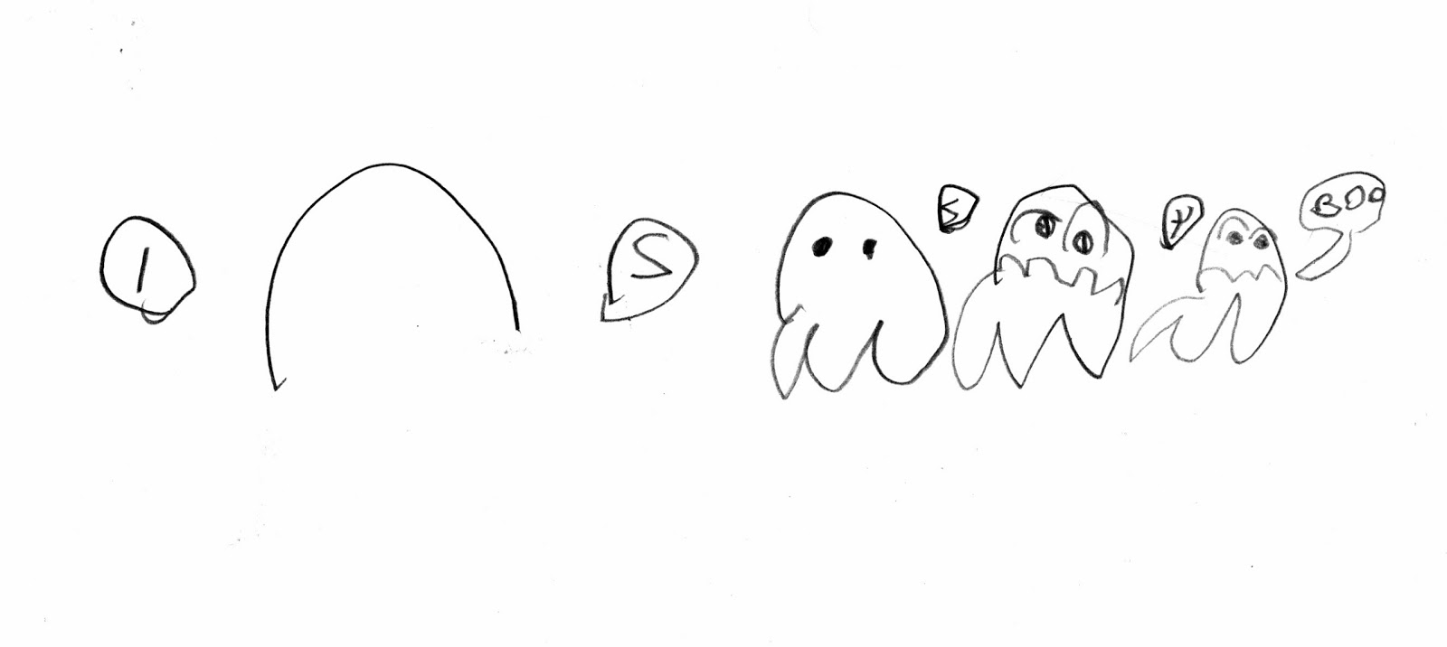 how to draw halloween ghost