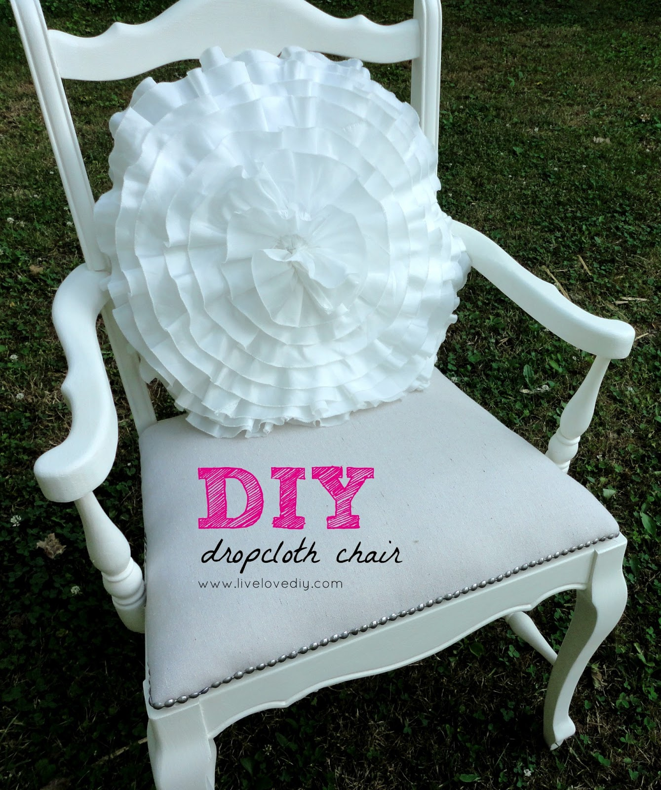 Reupholster A Chair With A Drop Cloth