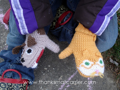 fun kids mittens