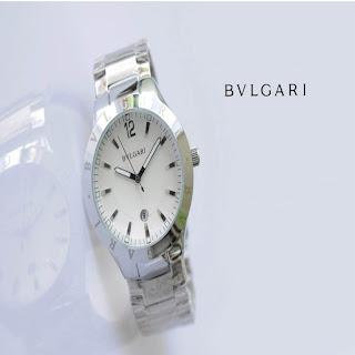 Jam Tangan keren BVLGARI 317 SILVER WHITE