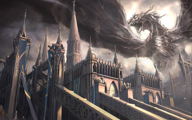 Dragones y Castillos Fantasy Wallpapers HD