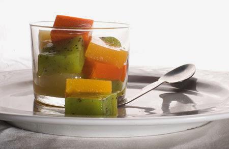 gelatinas de frutas