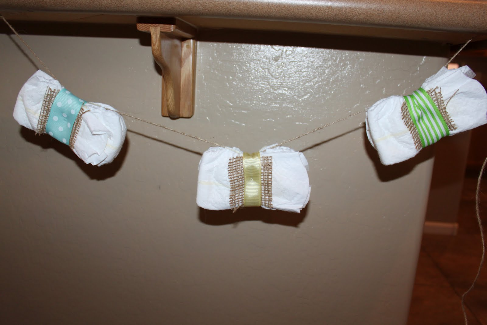 a massive bow tie diaper banner made by jenn