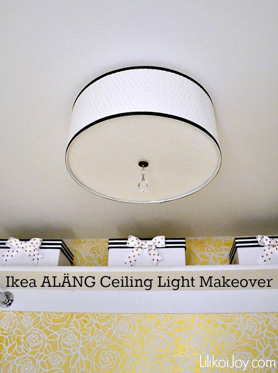 Ikea Mini Hack: ALÄNG Ceiling Light Makeover {how-to}