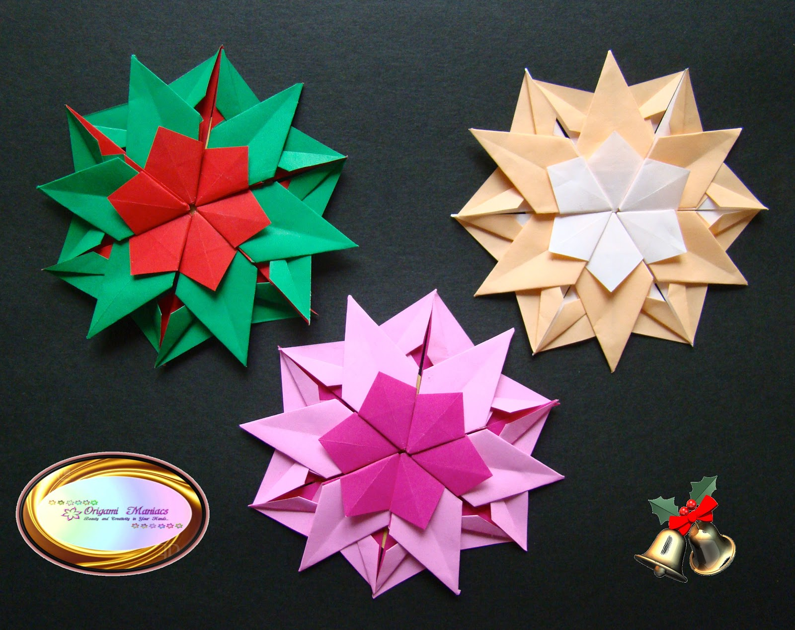 Origami Maniacs 5 Different Kinds Of Snowflakes For Christmas