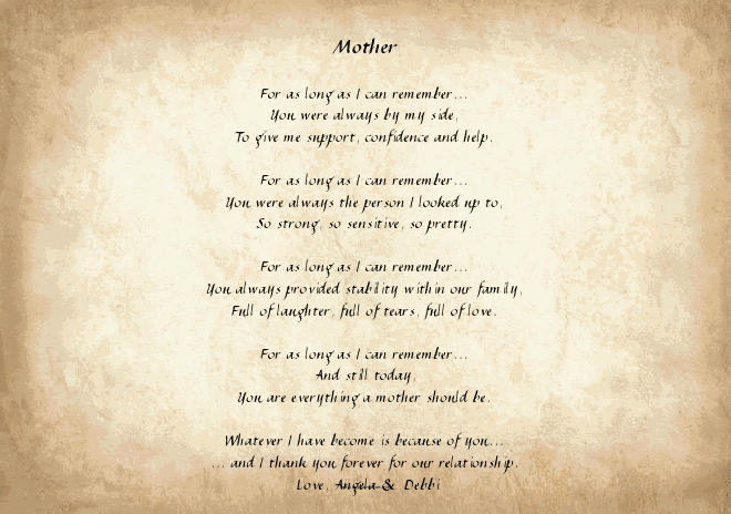 Mother's Day Poem Review & Giveaway