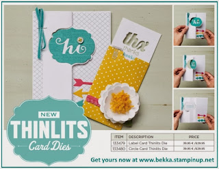 The amazing Stampin' Up! Card Thinlit Dies are available at www.bekka.stampinup.net
