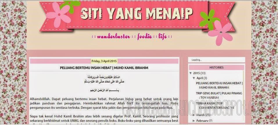 Blogger Siti Yang Menaip