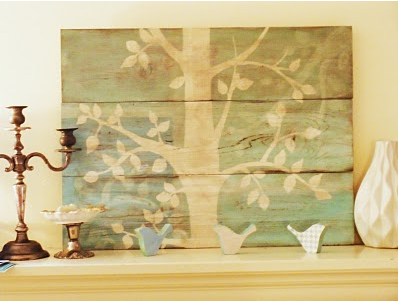 DIY inexpensive rustic artwork tree