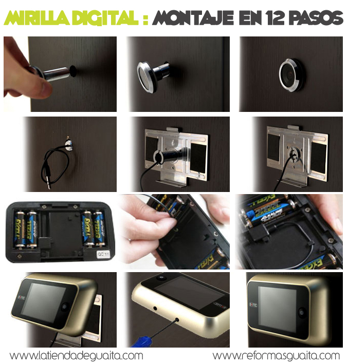 Mirilla digital para la puerta de casa seguridad para - Mirillas digitales para puertas ...