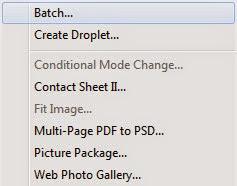 Photoshop Automation process