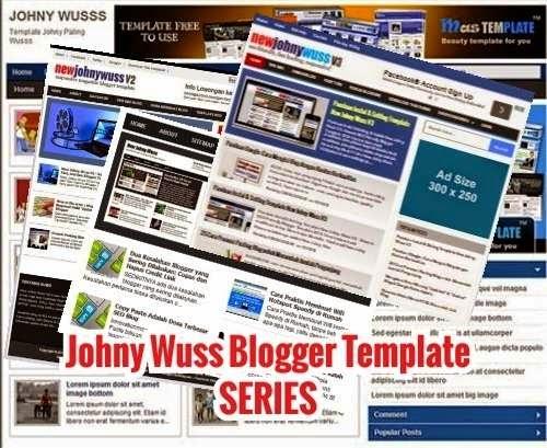 template blog johny wuss series