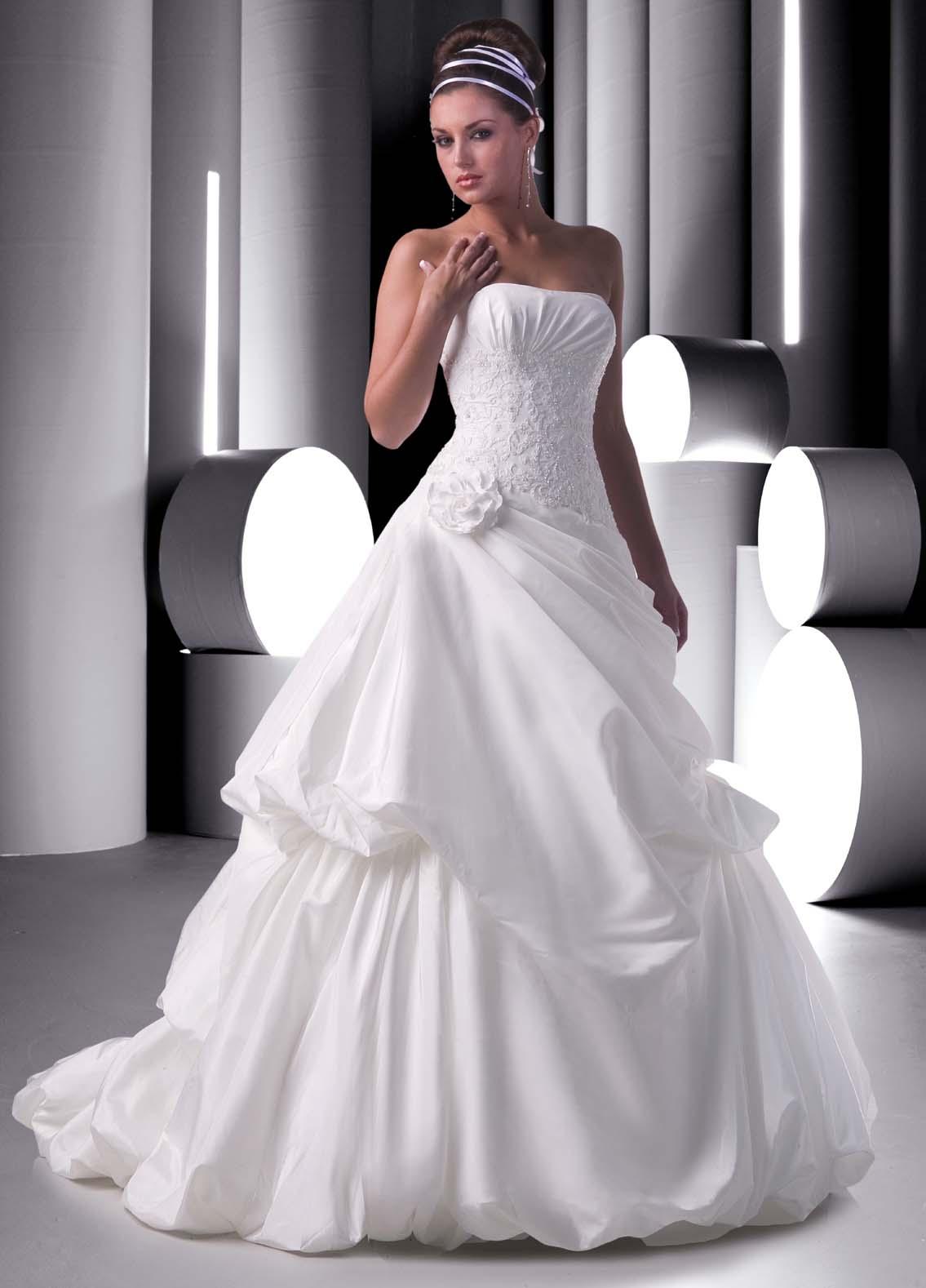 Vestido blanco de novia