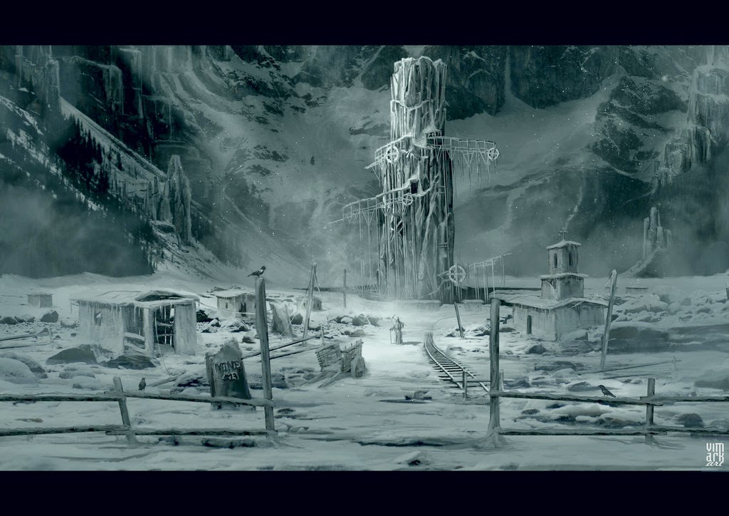 12-Frozen-Mine-Max-Mitenkov-Paintings-of-Surreal-Post-Apocalyptic-Forgotten-Worlds-www-designstack-co