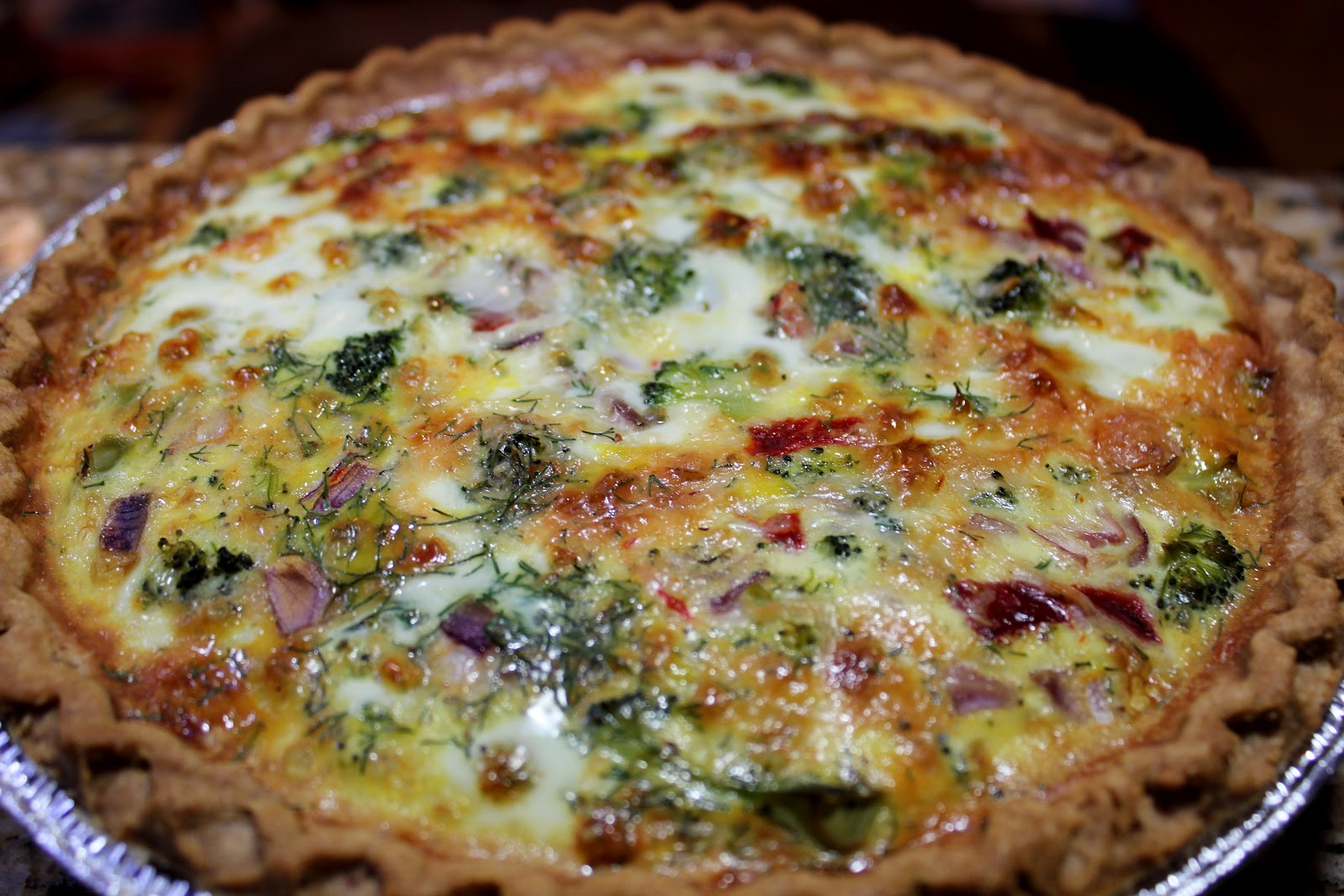 A virtual essence roasted red pepper broccoli quiche for Quiche not setting