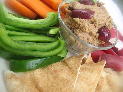 Marinated Sun-Dried Tomato Hummus with Olives | Lisa's Kitchen ...
