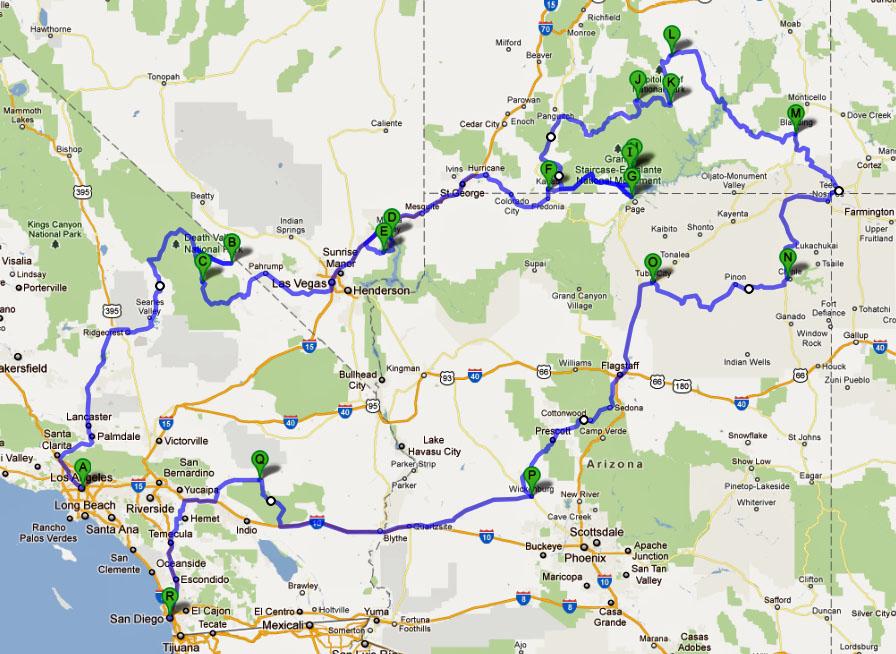 Route april 2012
