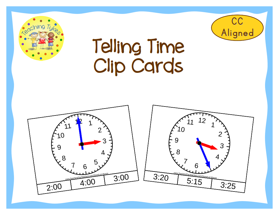 http://www.teacherspayteachers.com/Product/Telling-Time-Clip-Cards-Common-Core-Aligned-998951