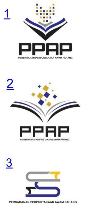 blog perbadanan perpustakaan awam pahang cadangan logo