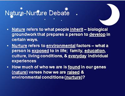 Essays on the nature vs nurture theory