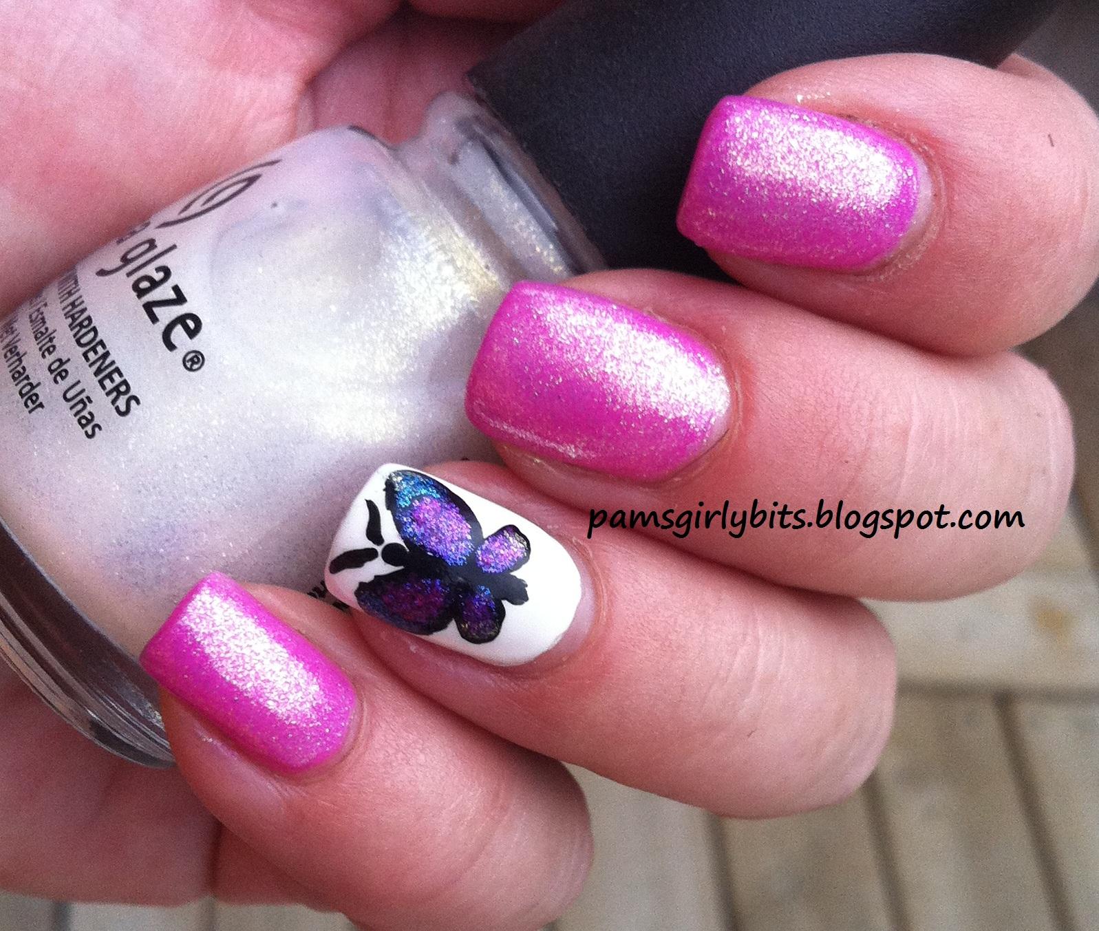Girly Nail Art: Girly Bits: Butterfly Nail Art