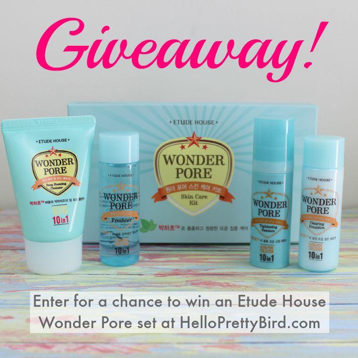 Etude House Wonder Pore Sample Kit giveaway