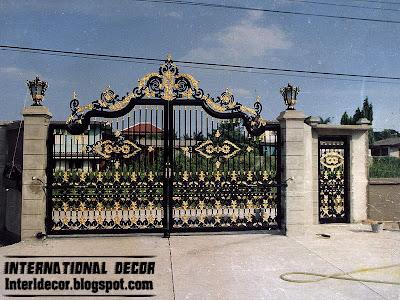 Modern Iron Gate Designs Glided Black Iron Gate Designs