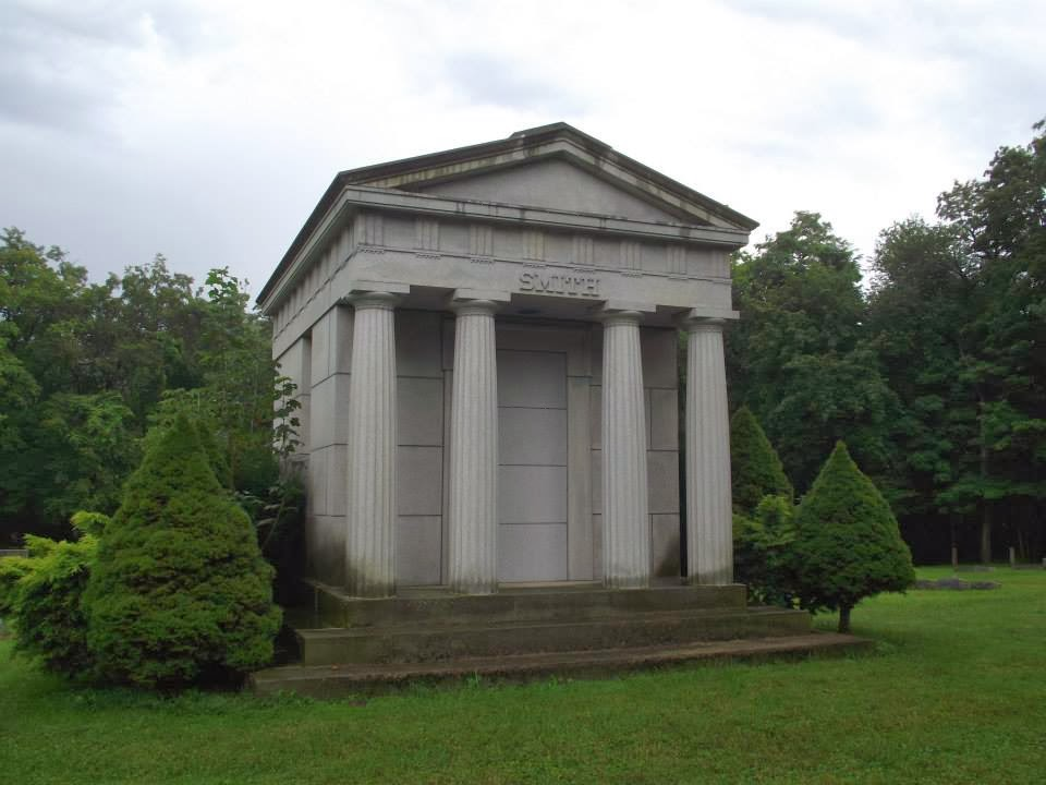 The Smith Mausoleum At Chestnut Grove Cemetery In Ashtabula Where James L And His Mother Are Located