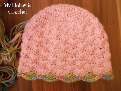 My Hobby Is Crochet Shell Stitch Earflap Hat With Flower Applique
