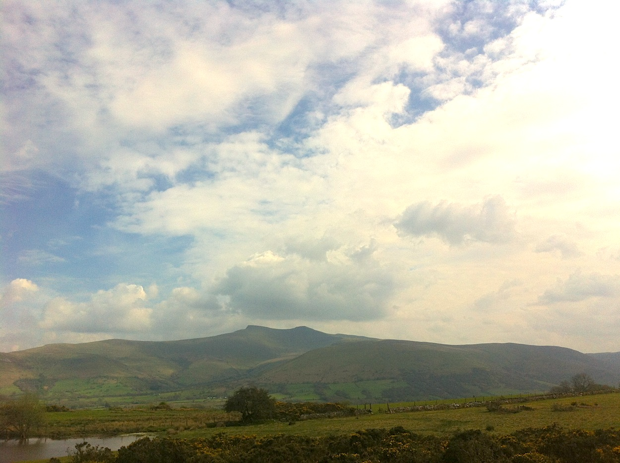 Pen y Fan to the north, from Mynedd Illtud