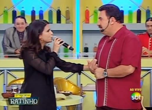 Aline Barros no programa do Ratinho - Foto (Reprodução Youtube)