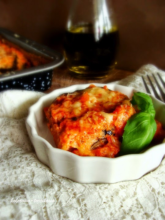 Zapiekanka z bakłażana ( niby lasagne )
