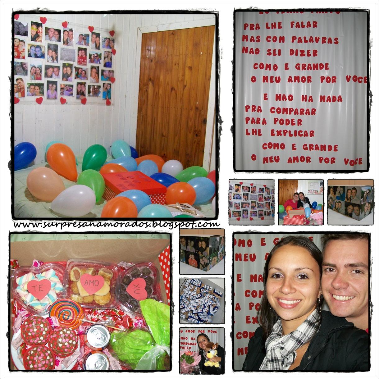 Festinha Surpresa no Quarto do Namorado  Surpresas para Namorados