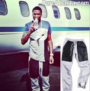 Leather jogging pants available at Pureatlanta.com