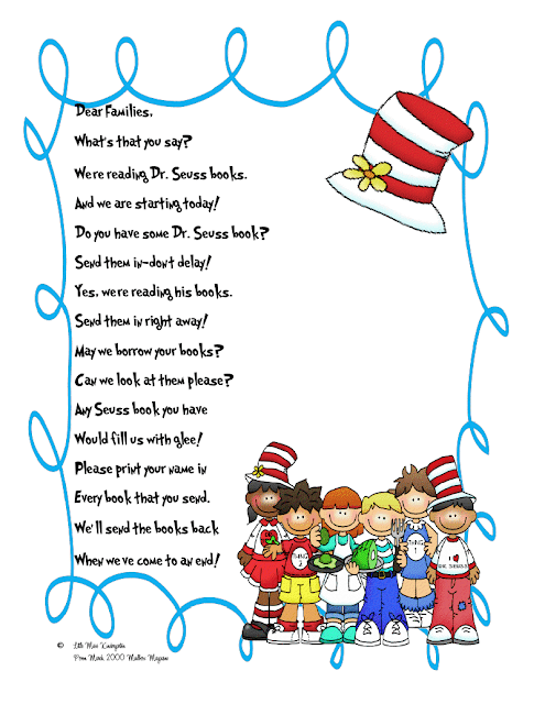 Dr Seuss Parent Letter!