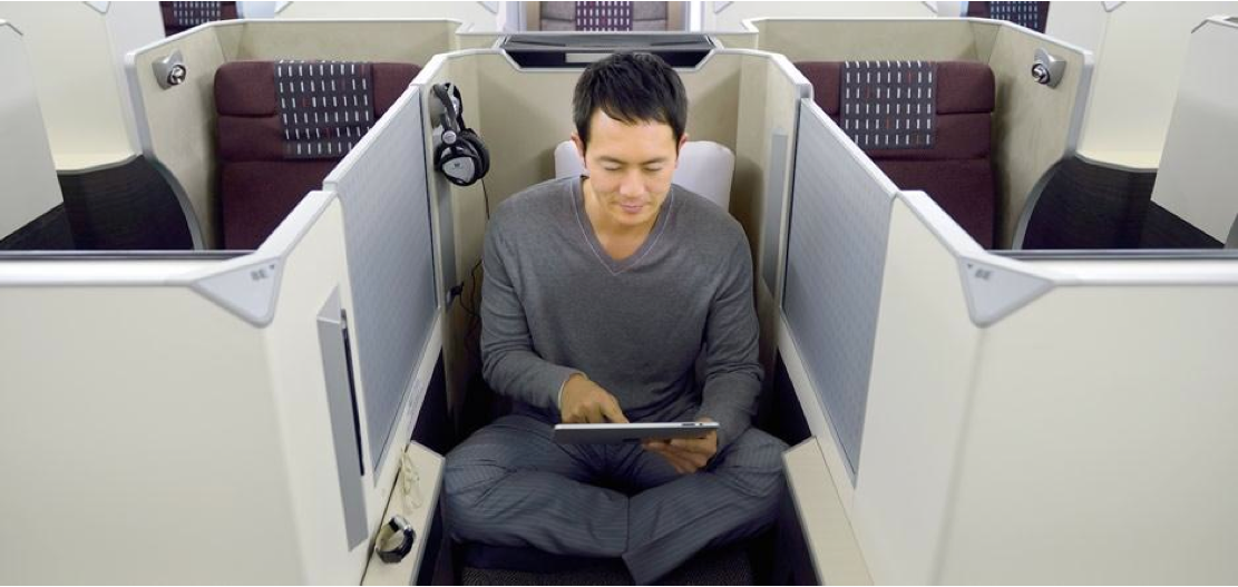 United Airlines First Class 767 JAL Flyer: JAL SKY SUI...