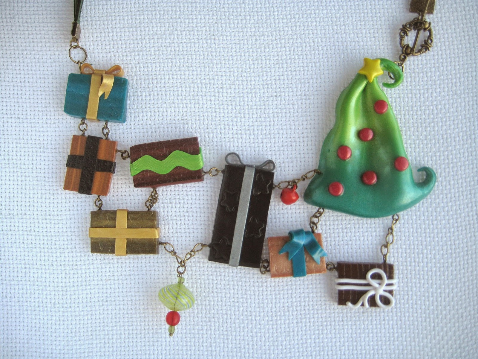 necklace, christmas, tree,