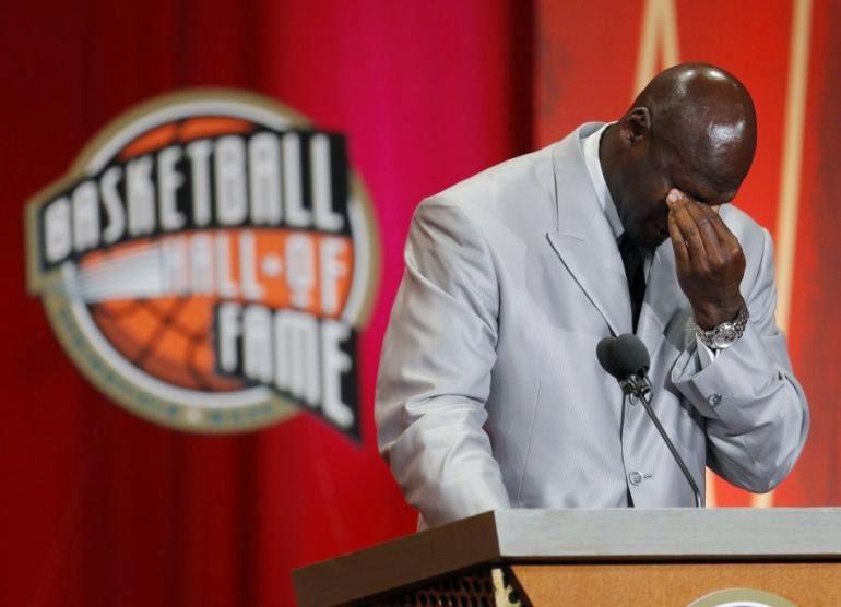 Michael Jordan Emotional At Basketball Hall Of Fame Induction