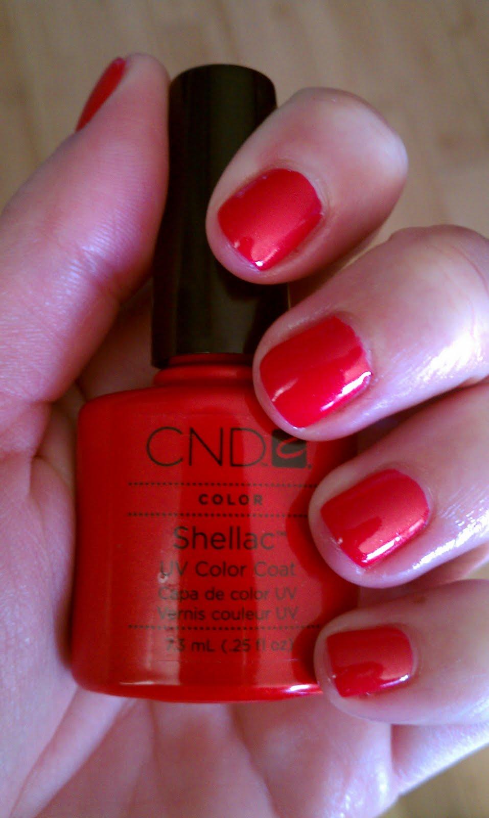 Cnd shellac wildfire фото на ногтях