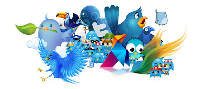 twitter versus texting, tweeting, text, twitter birds,